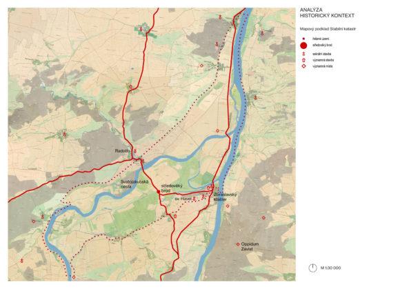 Říční níva na soutoku Berounky a Vltavy je nositelem mnoha vrstev krajinné paměti.