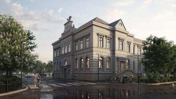 Historická budova Sokolovny zůstává zachována.