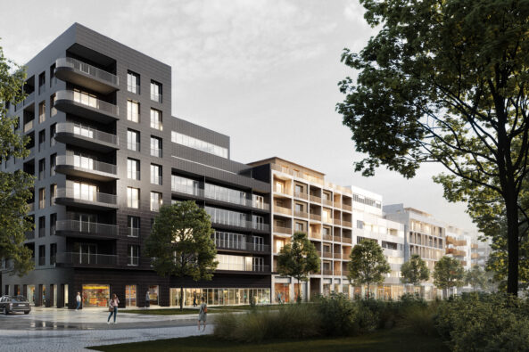 Návrh fasád rezidenční čtvrti Westpoint v Praze 6 pro Central Group