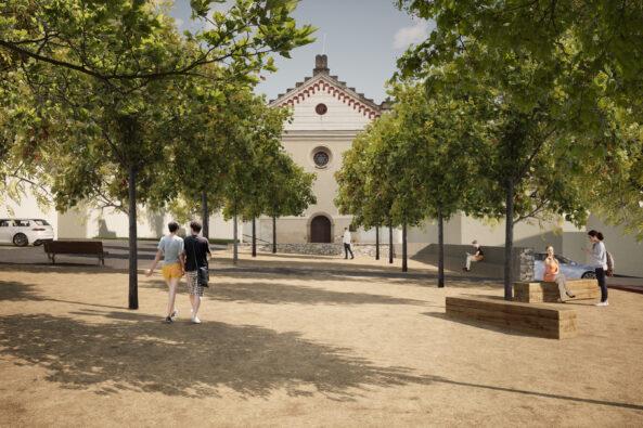 Koláčkovo náměstí ve Slavkově u Brna